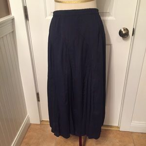COLDWATER CREEK SKIRT BLUE FULL MAXI LONG PS